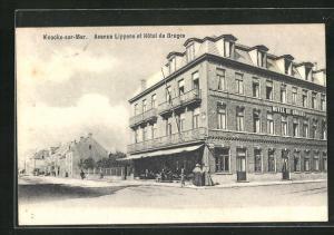 AK Knocke sur Mer, Avenue Lippens et Hotel de Bruges