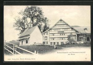 AK Stoss AR, Schlachtkapelle und Gasthaus