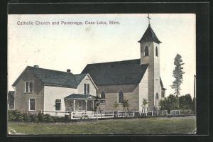 AK Cass Lake, MN, Catholic Church and Parsonage