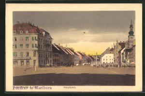 AK Maribor / Marburg, Hauptplatz mit Gebäudeansicht