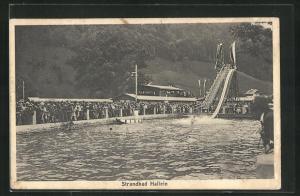 AK Hallein, Strandbad mit Badegästen