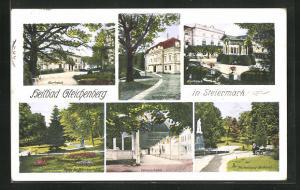 AK Gleichenberg, Heilbad, Kurhaus, Wandelbahn, Wickenburg-Denkmal