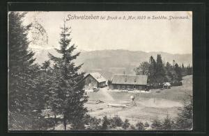 AK Schweizeben, Teilansicht mit Bergen