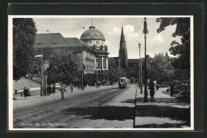 AK Posen / Poznan, Partie an der Paulikirche