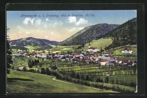AK Altenmarkt a. d. Triesting, Panoramablick vom Berg auf den Ort