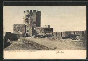 AK Rhodos, Tour noire et anciens canons des chevaliers