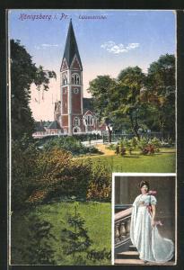 AK Königsberg, Luisenkirche und Bildnis der Königin Luise