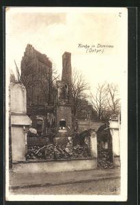 AK Domnau, An der zerstörten Kirche