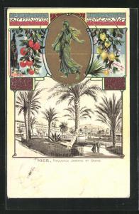 AK Nice, Nouveaux Jardins et Casino, Nationalfigur