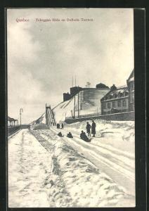 AK Quebec, Toboggan Slide on Dufferin Terrace