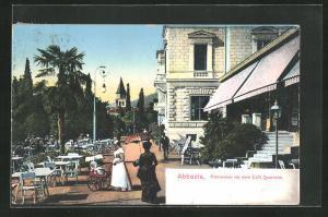 AK Abbazia, Promenade vor dem Café Quarnero