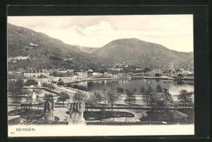 AK Bergen, Gesamtansicht des Ortes