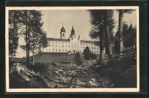 AK Weissenstein, Blick zur Wallfahrtskirche Maria