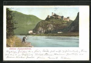 AK Bozen, Blick zum Schloss Sigmundskron