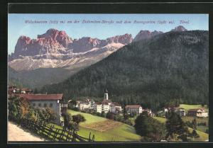 AK Welschnoven, Ort an der Dolomiten-Strasse mit dem Rosengarten