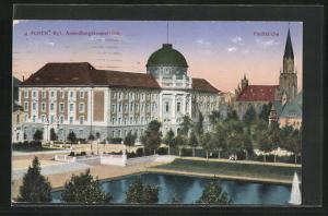 AK Posen / Poznan, Kgl. Ansiedlungskommission und Paulkirche