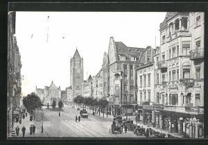 AK Posen / Poznan, St. Martinstrasse und Schloss