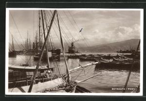 AK Beyrouth, Port, Schiffe im Hafen