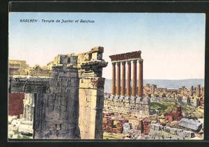 Künstler-AK Baalbek, Temple de Jupiter et Bacchus