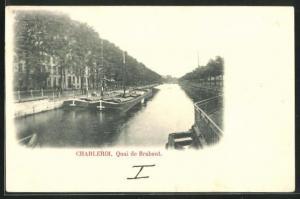 AK Charleroi, Quai de Brabant, Kanalpartie