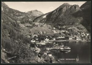 AK Geiranger, Blick auf den Ort