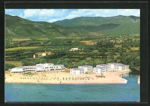 AK S. Margerita di Pula, Hotel Flamingo aus der Vogelschau