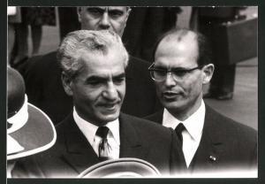 Fotografie Schah Mohammad Reza Pahlavi von Persien beim Staatsempfang