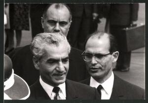 Fotografie Schah Mohammad Reza Pahlavi von Persien bei einem Staatsempfang