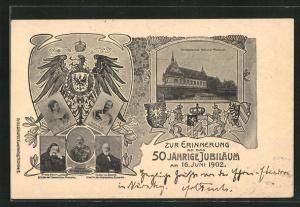 AK 50 jähr. Jubiläum 1902, Ganzsache Bayern PP7 C49 /02, Prinzregent Luitpold