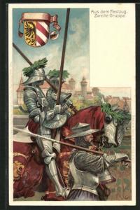 AK Nürnberg, X. Deutsches Turnfest 1903, Aus dem Festzug, Zweite Gruppe, Ganzsache Bayern PP15 C55 /04