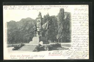 AK Bad Pyrmont, Partie am Kriegerdenkmal