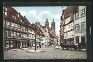 AK Göttingen, Johannisstrasse mit Geschäften