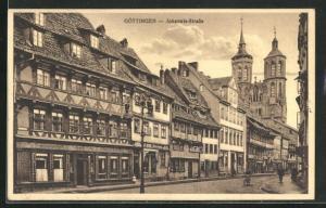 AK Göttingen, Alte Häuser an der Johannis-Strasse