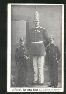 AK Soldat Langer Josef mit zwei Kameraden, Riese