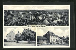 AK Blankenheim, Gesamtansicht, Ortspartien