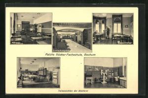 AK Bochum, Reichs Bäcker-Fachschule mit Hörsaal, Erfrischungsraum und Lesezimmer