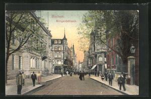 AK Bochum, Partie an der Bongardstrasse
