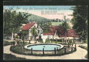AK Bielefeld, Gasthaus Quellental von C. Wellhöner