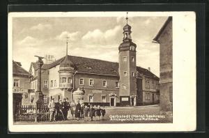 AK Gerbstedt / Mansf. Seekreis, Amtsgericht und Rathaus