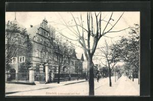 AK Bitterfeld, Lindenstrasse mit Post