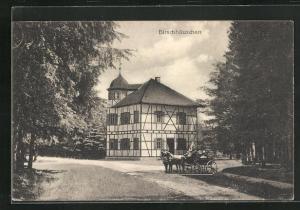 AK Allstedt, Pferdekutsche am Gasthaus Birschhäuschen