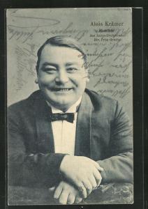 AK Alois Krämer, Komiker des Salon-Orchesters Dr. Fritz Grothe