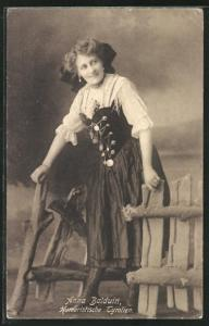 AK Anna Balduin, humoristische Tyrolien