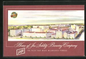 Künstler-AK Milwaukee, WI, The Schlitz Brewery