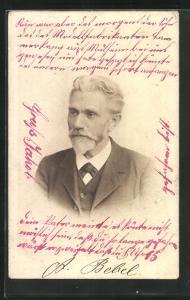 AK Führer der Arbeiterbewegung August Bebel