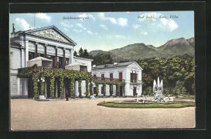 AK Bad Ischl, Kaiserl. Villa mit Brunnen