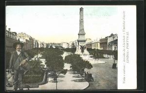 AK Lisboa, Vista e costume, Avenida da Liberdade e Vendedor d`azeite