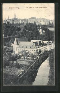 AK Luxembourg, Vue prise du Fort Trois-Glands