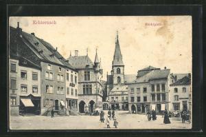 AK Echternach, Partie am Marktplatz
