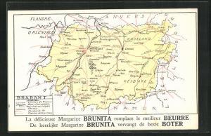 AK Brüssel / Bruxelles, Landkarte